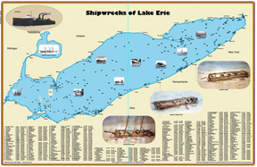 Available Only As A Pdf Updated Chart Wth 305 Lake Erie Shipwreck Locations